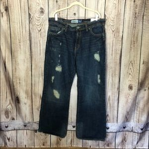 NWT Aeropostale Distressed Denton Bootcut Jeans